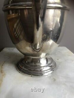 Vintage Gorham sterling Silver Water pitcher 4.25 pt #621 24oz Art Deco Monogram