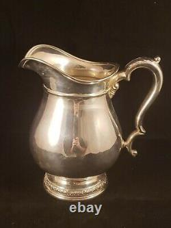 Vintage International Prelude Sterling Silver 4 1/4 Pint Water Pitcher