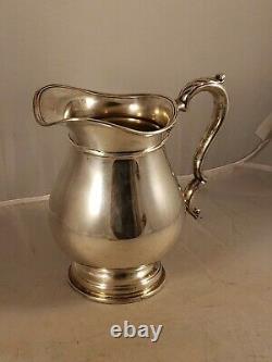 Vintage International Prelude Sterling Silver Water Pitcher 4 1/4 Pint Inscribed