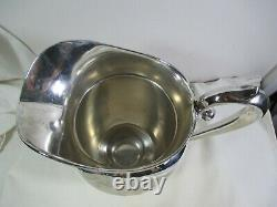 Vintage Manchester Sterling Silver Water Pitcher 4.5 Pint #969 Mono R