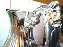 Vintage / Maybe Antique Sheffield Sterling Silver Plate Water Pitcher S-8506