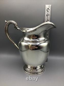 Vintage Rogers Water Pitcher 4 1/2 pints Sterling Silver 9h