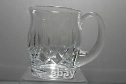 Vintage Signed Waterford Cut Crystal Kildare 5 3/4 Jug Water Pitcher MINT 38oz