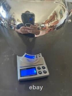 Vintage Solid Silver Pitcher Claret Jug Ewer Water 9 510 grams