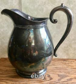 Vintage Wallace Sterling Silver #460 4 1/2 PTS Water Pitcher, 625 Grams