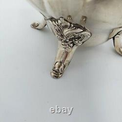 Wallace Baroque Water Pitcher Silverplate 267 Footed Floral 10 Tall