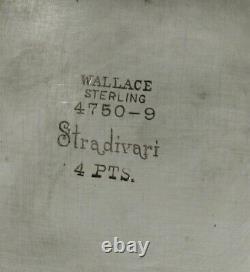 Wallace Sterling Water Pitcher c1950 STRADIVARI