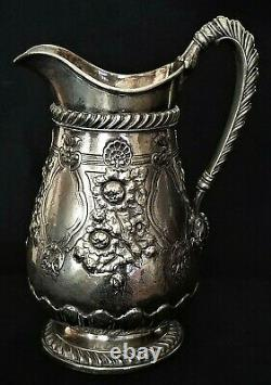 Water Pitcher, Classical, Gorham silverplate, 2qt, Lewis Sherry, NYC, 11