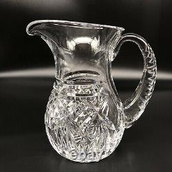 Waterford Archive Crystal Water Pitcher Jug Large 64 oz. 8.5 Made in Ireland