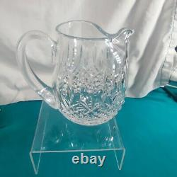 Waterford Crystal Lismore 42 Ounce Ice Lip Jug / Water Pitcher Marked on Bottom