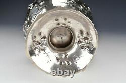 William Gale & Son American Coin Silver Water Jug Grapevine Pattern