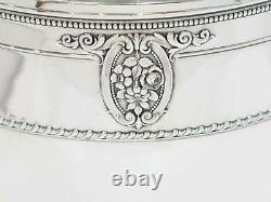 11 En Sterling Silver Wallace Antique Rose-point Pattern Water Pitcher