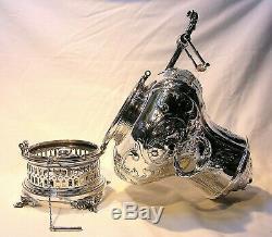 1865 Tiffany & Co. Repousse En Argent Sterling Grande Eau Chaude Urne 13 1 / 2tall Rare