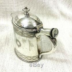 1881 Argent Antique Plaqué Petit Eau Chaude Jug Elkington & Co Design Hors Du Commun