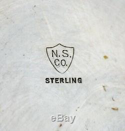 # 9123 -classy National Argen Lg Sterling Pitcher Eau Motif Plaine Non Mono