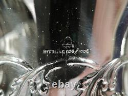 Adelphi Water Pitcher Antique Edwardian Américain Sterling Silver & Cut Glass