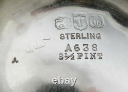 Antique 1898 Gorham Sterling Silver Large Heavy Water Pitcher No Mono 11 1141g