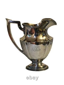 Antique 1915 Gorham Sterling Silver Plymouth Water Pitcher A2788 54 Oz