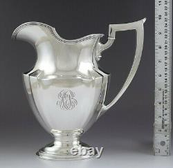 Antique 1915 Nice Gorham Sterling Silver Plymouth Water Pitcher 54 Oz Grande Taille