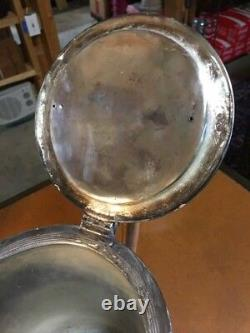 Antique American Silverplate Tilting Water, Or Lemonade, Stand, Goblet, Soucoupe