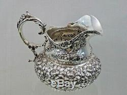 Antique Argent Sterling Repousse La Main Chassai Pichet Dominick & Haff 1897
