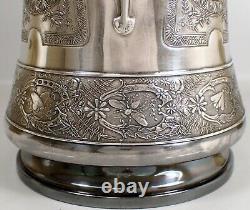 Antique Art Nouveau Insect Derby Silver Co. Quadruple Placage Ice Water Pitcher
