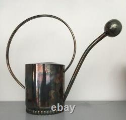 Antique Early MID Century Plant Flower Orchid Silver Watering Can Bec, Danemark
