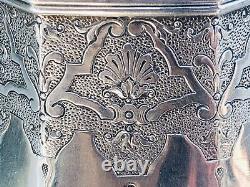 Antique Français Sterling Argent Figural Ewer Café Eau Pot De Thé Jug Pitcher