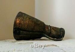Antique Main Martelée Cuivre Laiton Pichet D'eau Lourde Primitive Jug 14'