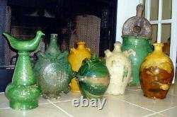 Antique Potterie Française Confit Pot En Grès Jareau Cruche Pitcher Jug Navire