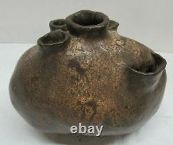 Antique Pré-colombienne Art Pottery Vaisseau D'eau Vase Pitcher Jug Signé