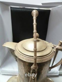 Antique Rogers Smith Co. Quadruple Plate Silver Tilting Water Pitcher
