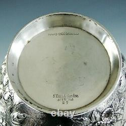 Antique Signé S. Kirk And Son Sterling Silver Repousse Water Pitcher