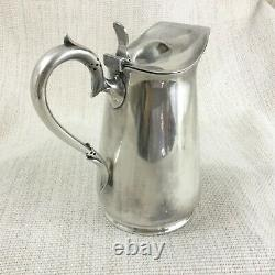 Antique Silver Plated Hot Water Jug Pot James Dixon Sheffield 19th C Victorien