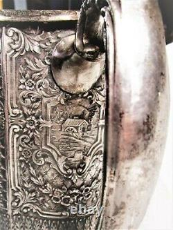 Antique Silver-plaqué Water Pitcher Hall Marqué E. G. Webster & Sons