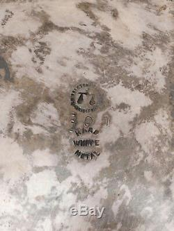 Antique Silverplate Basculement Pitcher Eau Avec Une Clôture Saut De Cheval