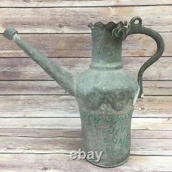 Antique Vintage Moyen-orient Persan Islamique 19e Cruche D'eau Pichet Pourer Pot