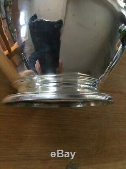 Antique York Solid Silver Beer Jug Eau Chaude Pichet De Très Grande Proportions Yo