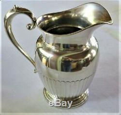 Antq Sterling Silver Water Pitcher Manchester 740 Grms 26 Onces Non Mono Ex-cond