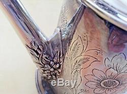 Argent Rare Sterling Fleurs Centerpiece Arrosoir Et Pitcher