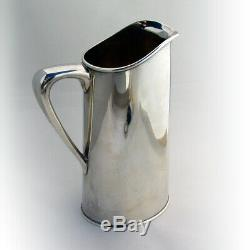 Art Moderne Eau Martini Pitcher 1950 Silver Hand Made Sterling