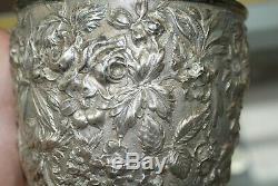 Baltimore Rose Schofield Pitcher Eau Florale En Argent Sterling Repousse