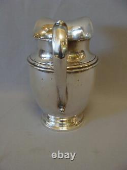 Bel Argent Massif Sterling Grand Pitcher D'eau Par Preisner Style 125