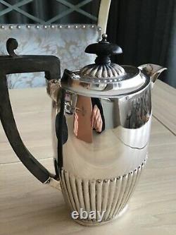 Cafetière Antique En Argent Massif / Cruche D'eau Chaude Birmingham 1904