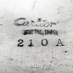 Cartier Pichet À Eau Festonnée Rim Années 1940 En Argent Sterling