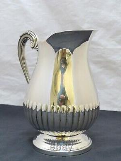 Christofle Marly Silverplated 10 Large Water Orangeade Pitcher Jug Broc Eau #2