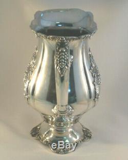 Christopher Wren Par Wallace Silver Plate Grand Pichet Eau 9 7/8