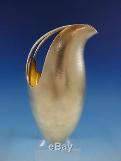 De Vecchi En Argent Sterling Vase Pichet À Eau Jug Milieu Du Siècle Moderne Italie # 1351