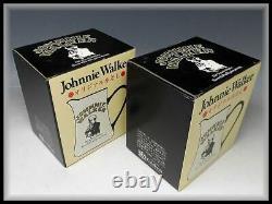 Decanters Jugs Pitcher D'eau Johnnie Walker 2 Boîte Ensemble Avec Boîte De Poterie F/s