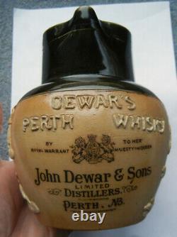 Énorme Dewar's Perth Whisky Water Pub Cruche C1890's (j)